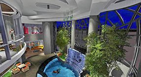 Indoor Pool Workout Gym and Master BR Balcony